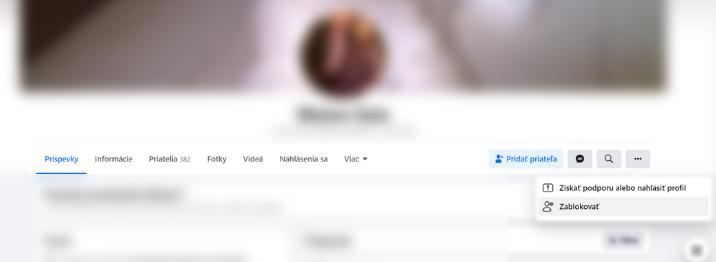 nahlásenie profilu na Facebooku ESET